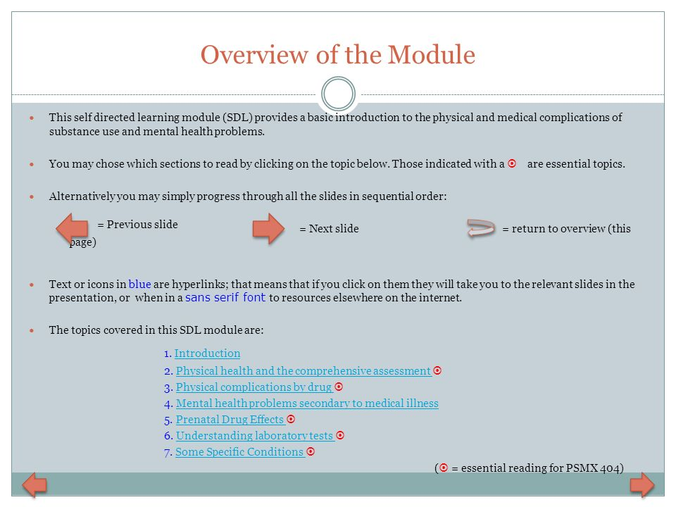 Overview of the Module 1. Introduction