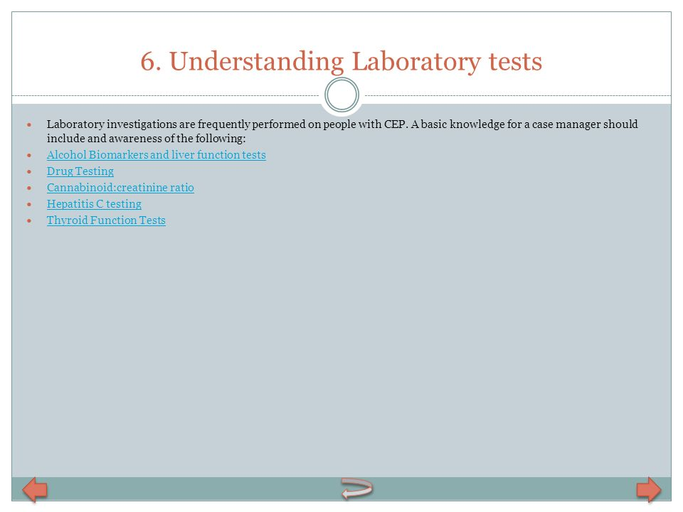 6. Understanding Laboratory tests
