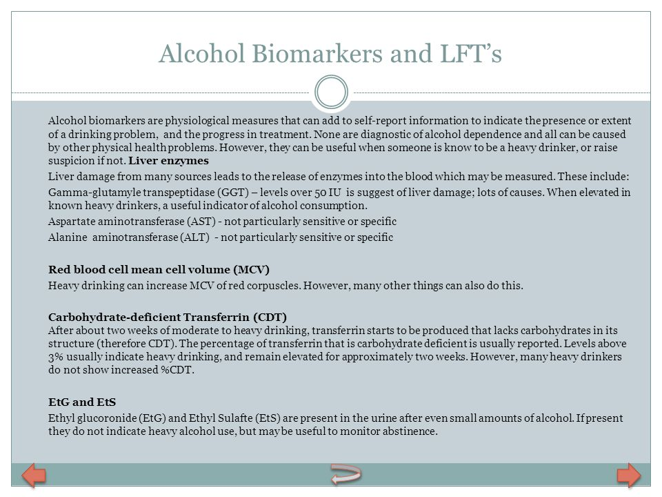 Alcohol Biomarkers and LFT's