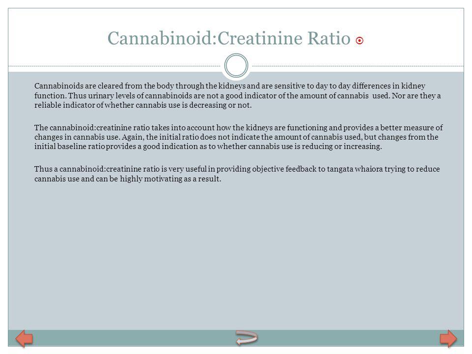 Cannabinoid:Creatinine Ratio 