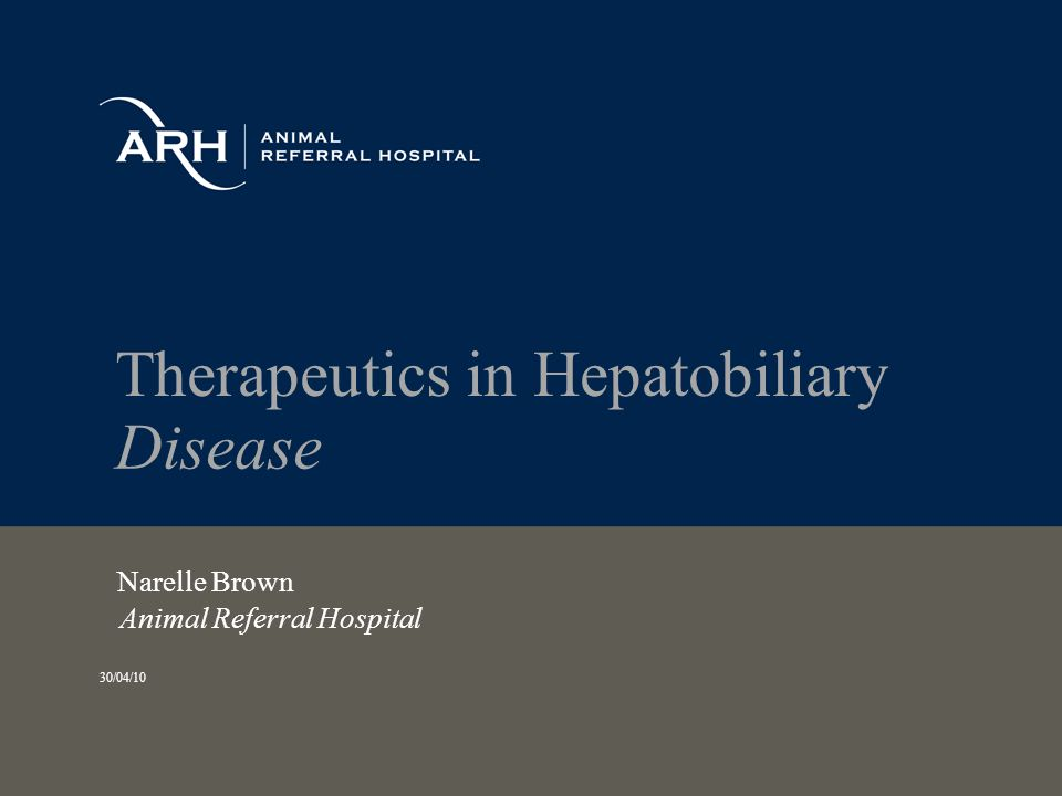 Therapeutics in Hepatobiliary Disease