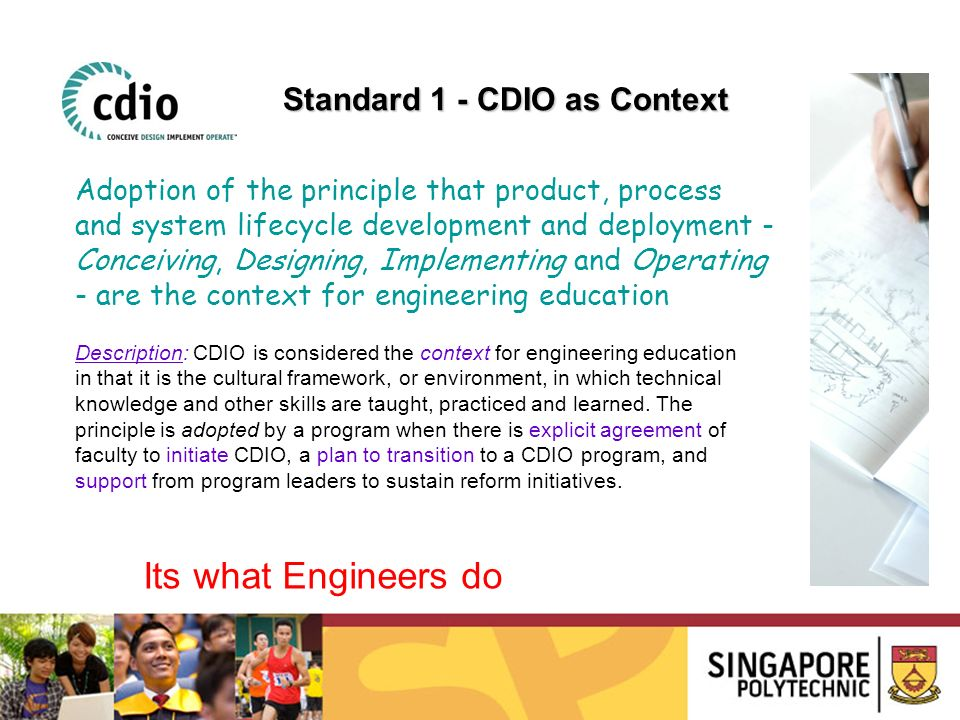 Its what Engineers do Standard 1 - CDIO as Context