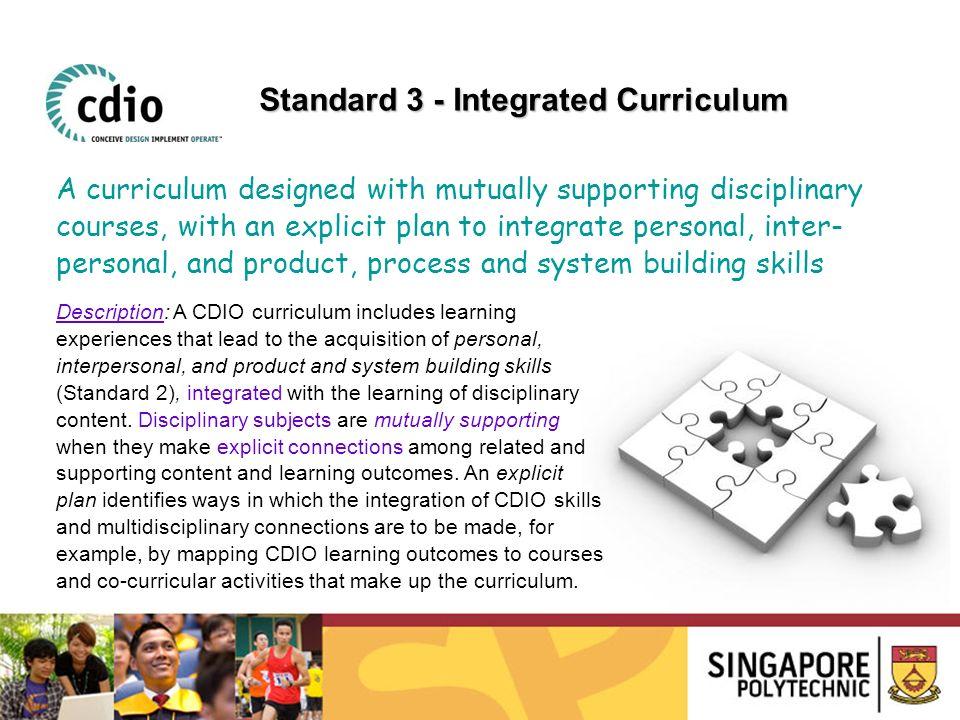 Standard 3 - Integrated Curriculum