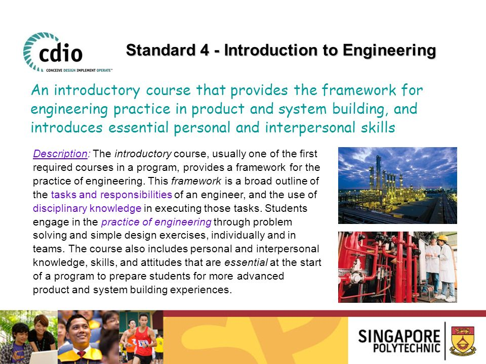 Standard 4 - Introduction to Engineering