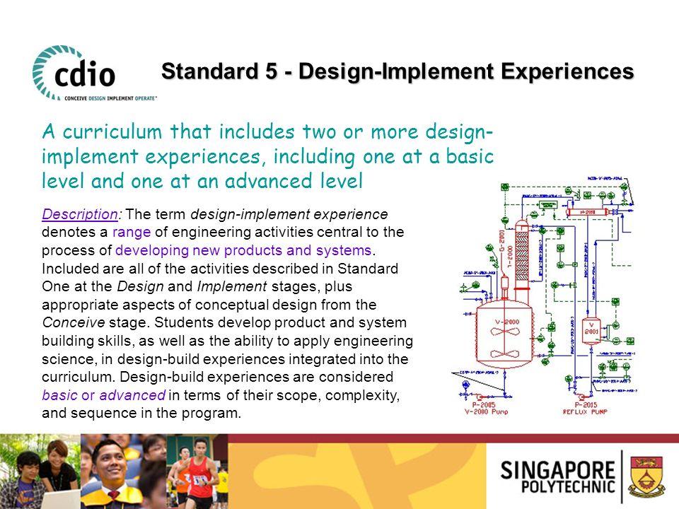 Standard 5 - Design-Implement Experiences