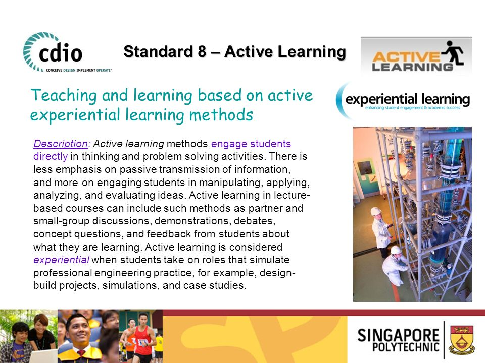 Standard 8 – Active Learning