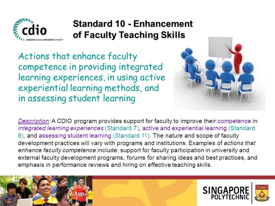 Standard 10 - Enhancement of Faculty Teaching Skills