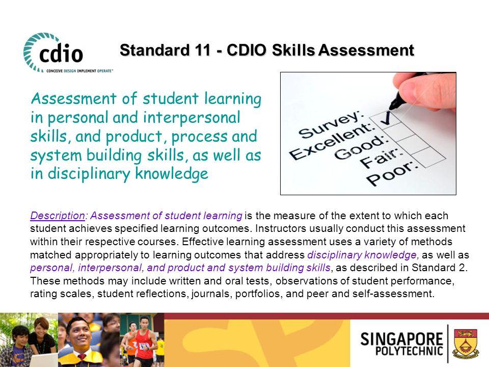 Standard 11 - CDIO Skills Assessment