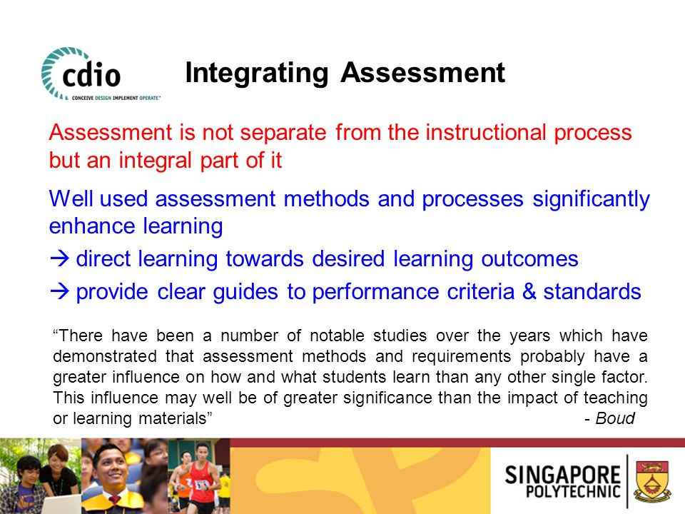 Integrating Assessment