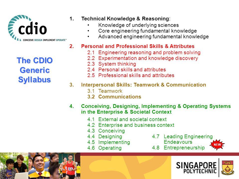 The CDIO Generic Syllabus
