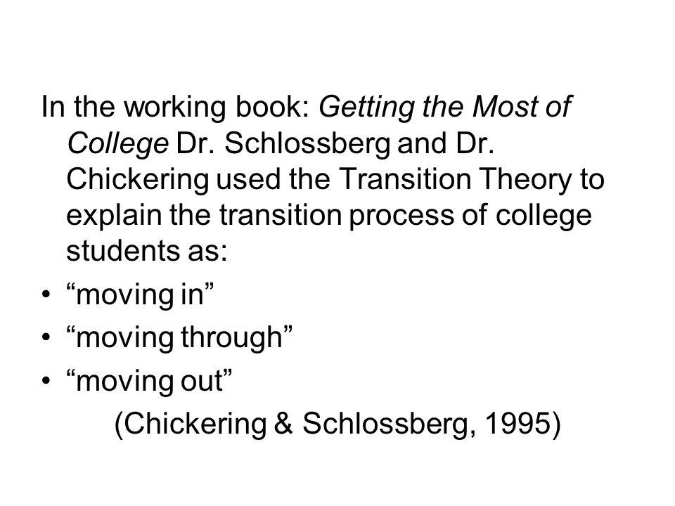 (Chickering & Schlossberg, 1995)
