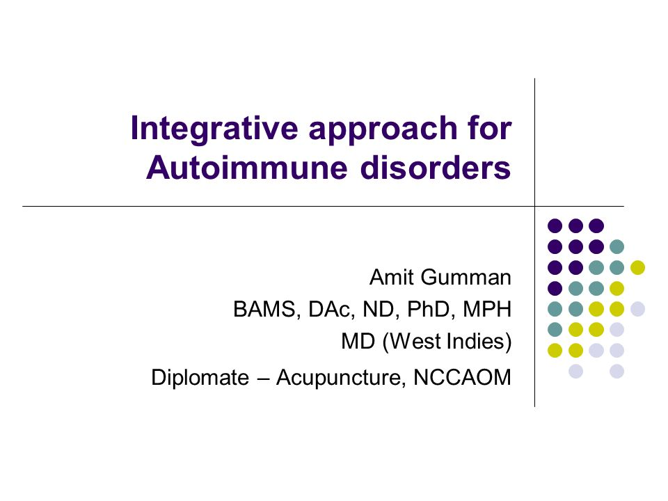 Integrative approach for Autoimmune disorders