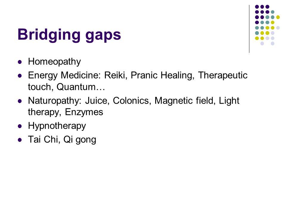 Bridging gaps Homeopathy