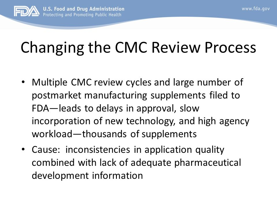 Changing the CMC Review Process