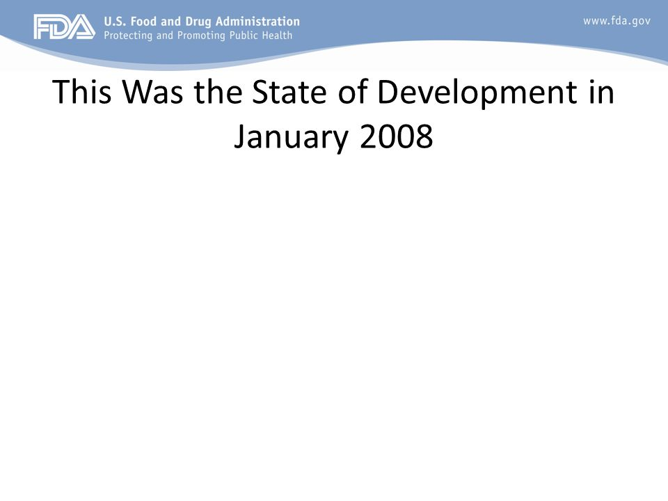 This Was the State of Development in January 2008