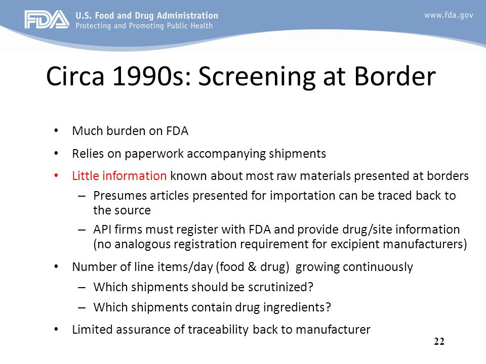 Circa 1990s: Screening at Border
