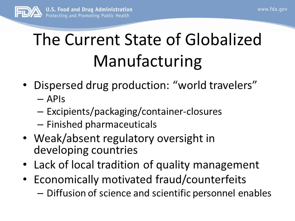 The Current State of Globalized Manufacturing