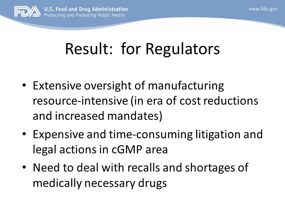 Result: for Regulators