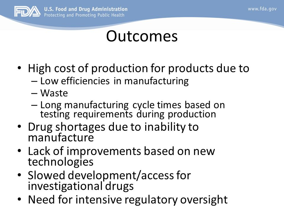 Outcomes High cost of production for products due to
