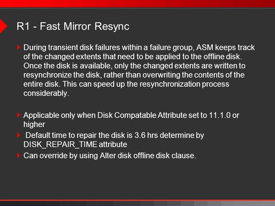 R1 - Fast Mirror Resync