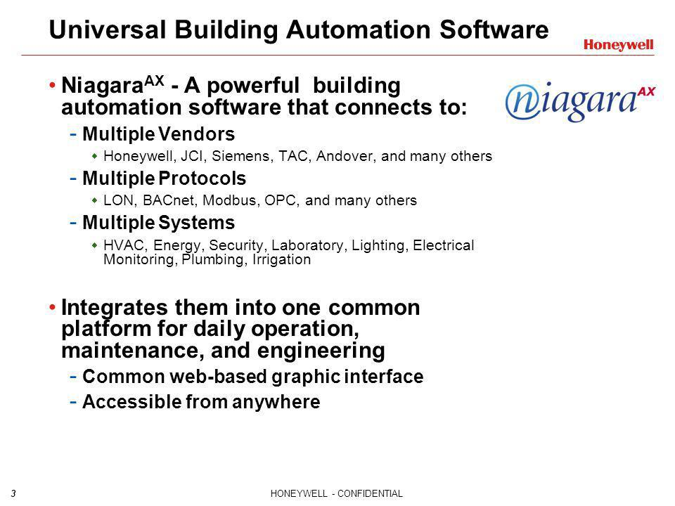 Universal Building Automation Software