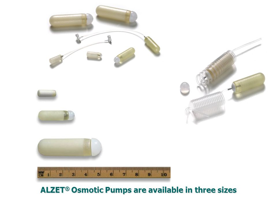 ALZET® Osmotic Pumps are available in three sizes