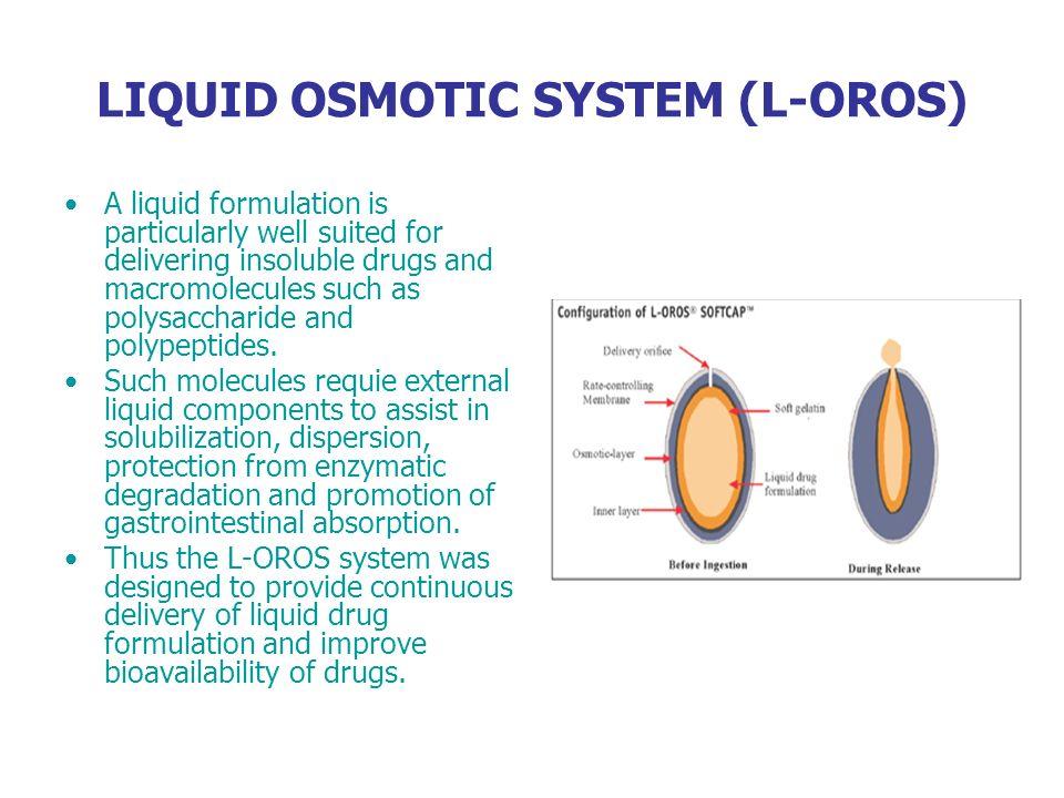LIQUID OSMOTIC SYSTEM (L-OROS)
