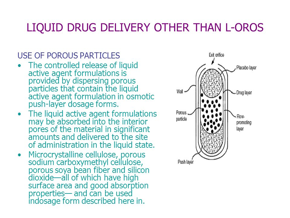 LIQUID DRUG DELIVERY OTHER THAN L-OROS