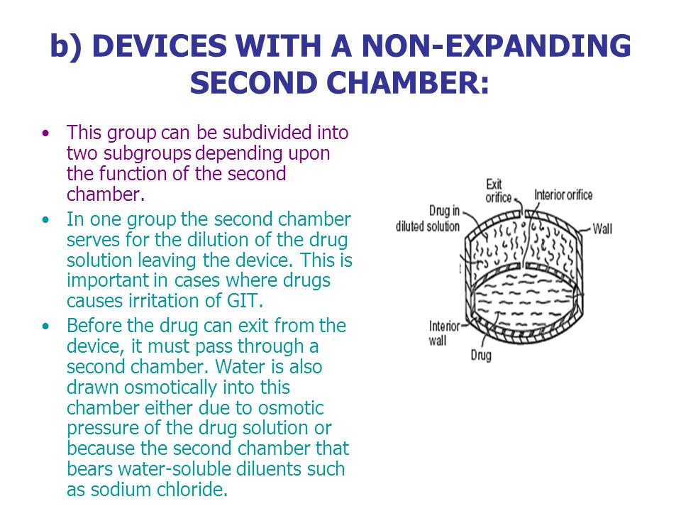 b) DEVICES WITH A NON-EXPANDING SECOND CHAMBER: