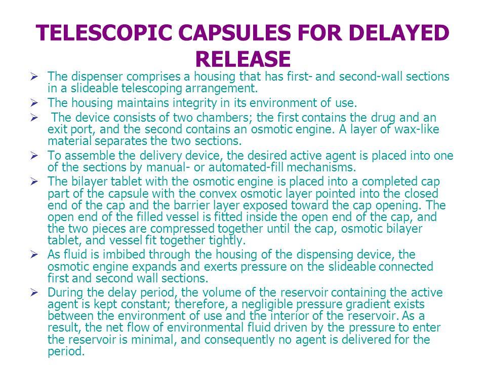 TELESCOPIC CAPSULES FOR DELAYED RELEASE