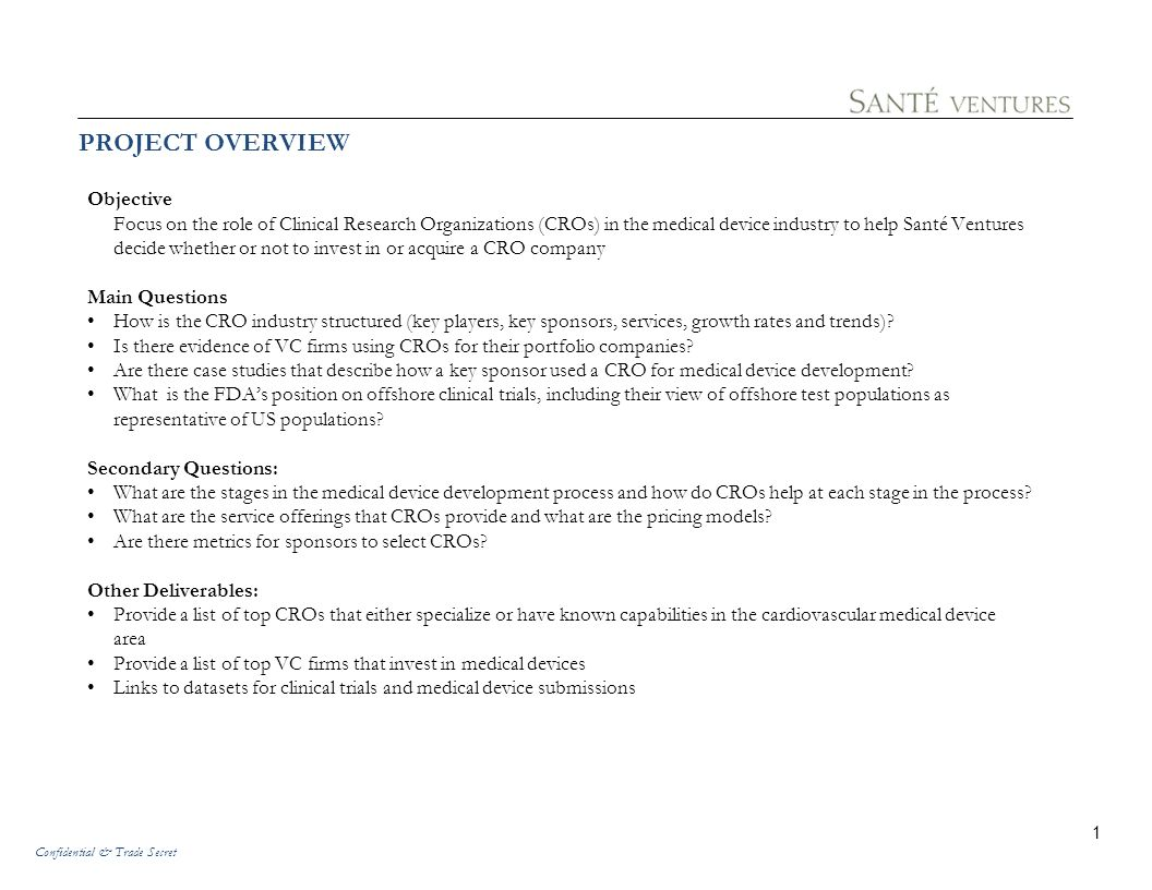 PROJECT OVERVIEW Objective
