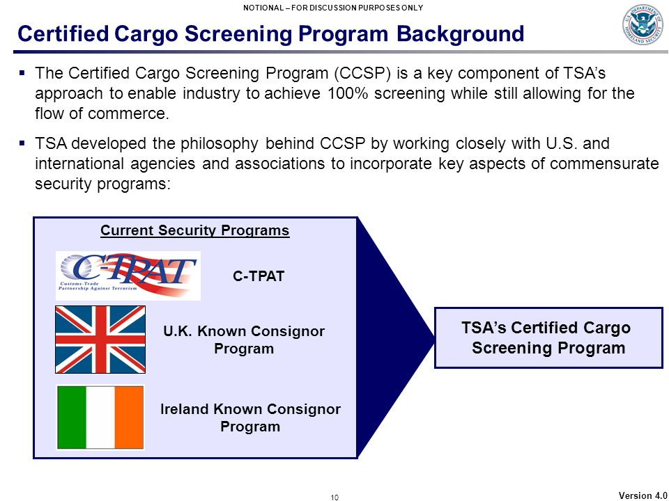 Certified Cargo Screening Program Background