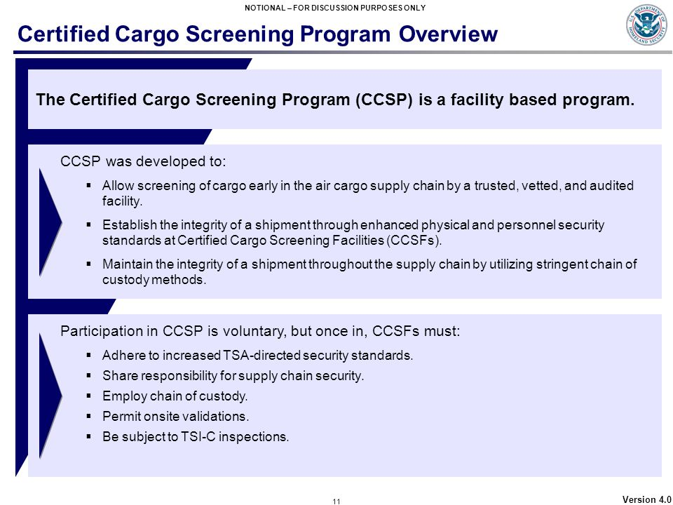 Certified Cargo Screening Program Overview