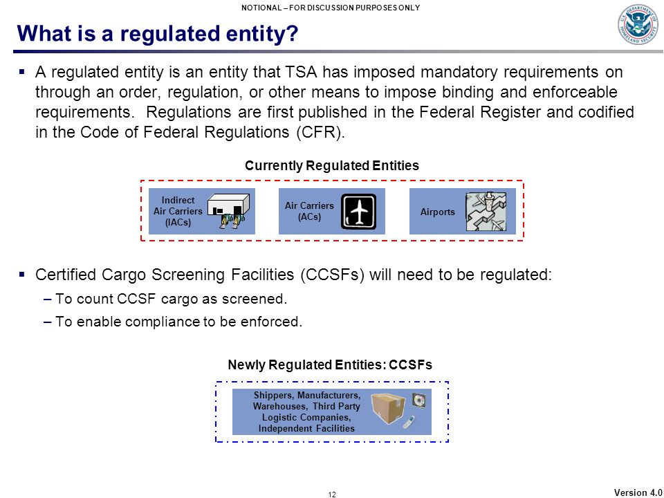 What is a regulated entity
