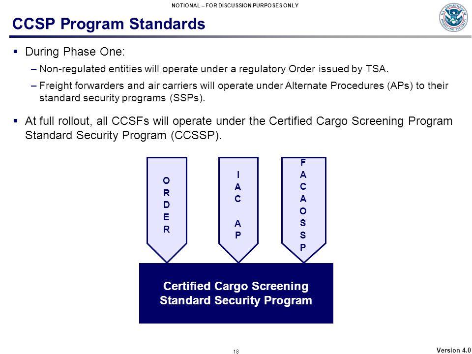 CCSP Program Standards
