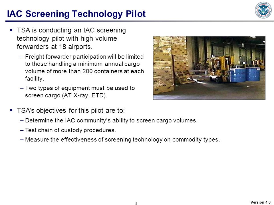 IAC Screening Technology Pilot