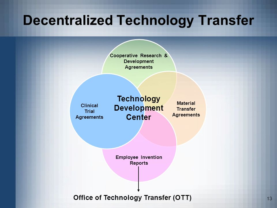 Decentralized Technology Transfer
