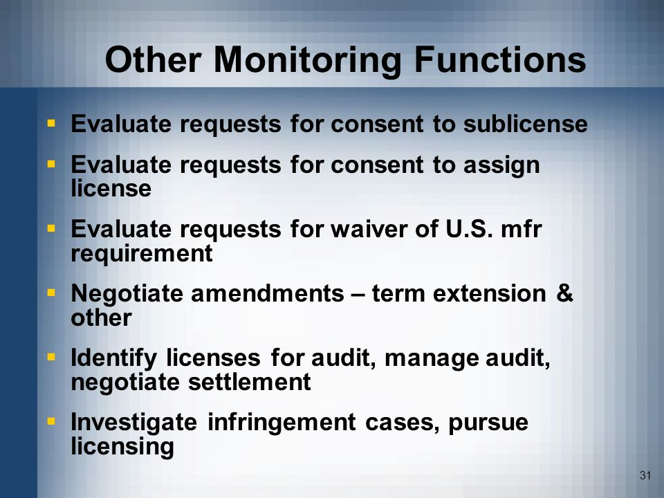 Other Monitoring Functions