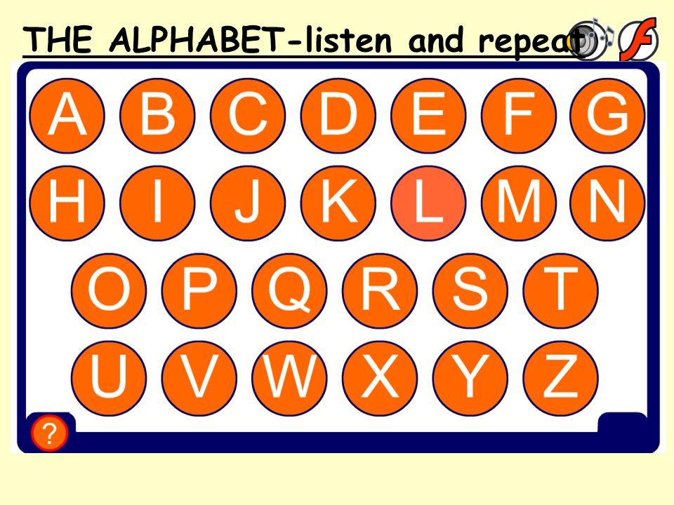 Comment ça s'écrit 1 THE ALPHABET-listen and repeat