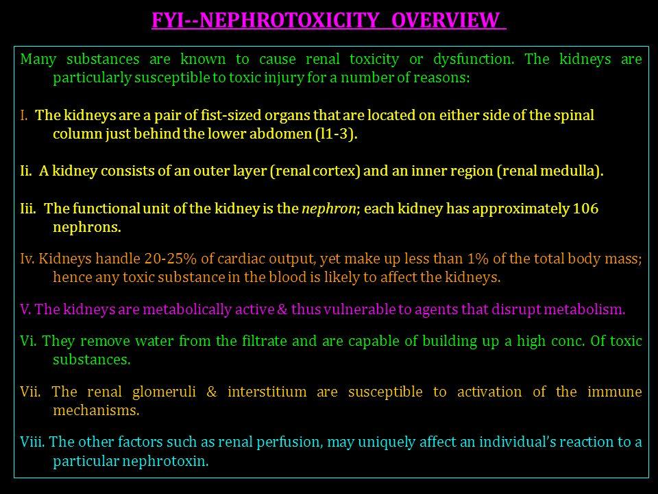 FYI--NEPHROTOXICITY OVERVIEW