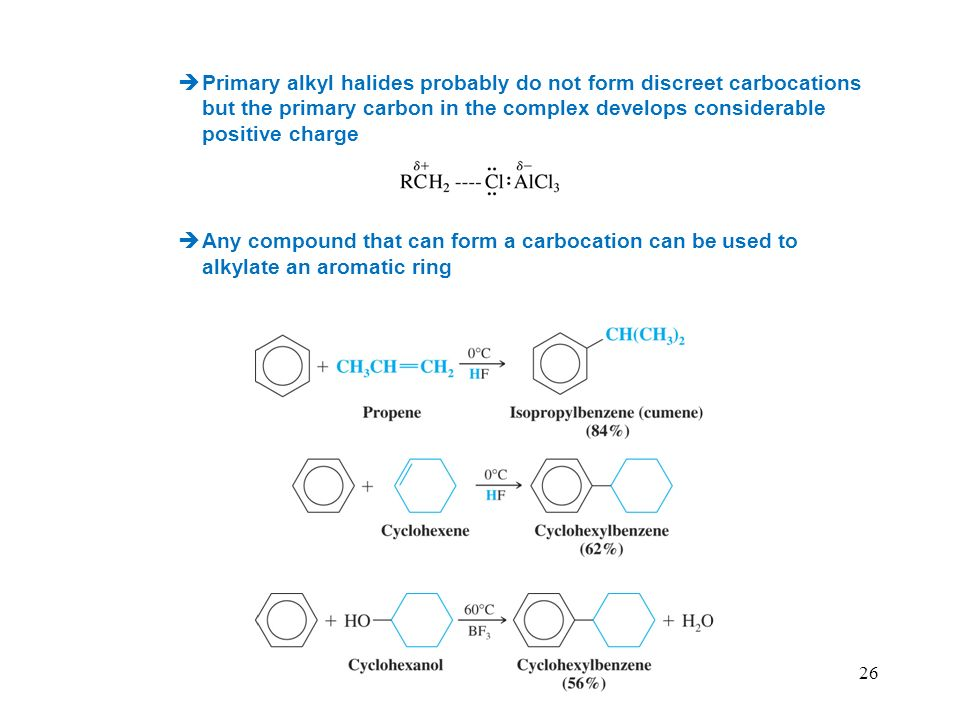 Primary alkyl halides probably do not form discreet carbocations but the primary carbon in the complex develops considerable positive charge