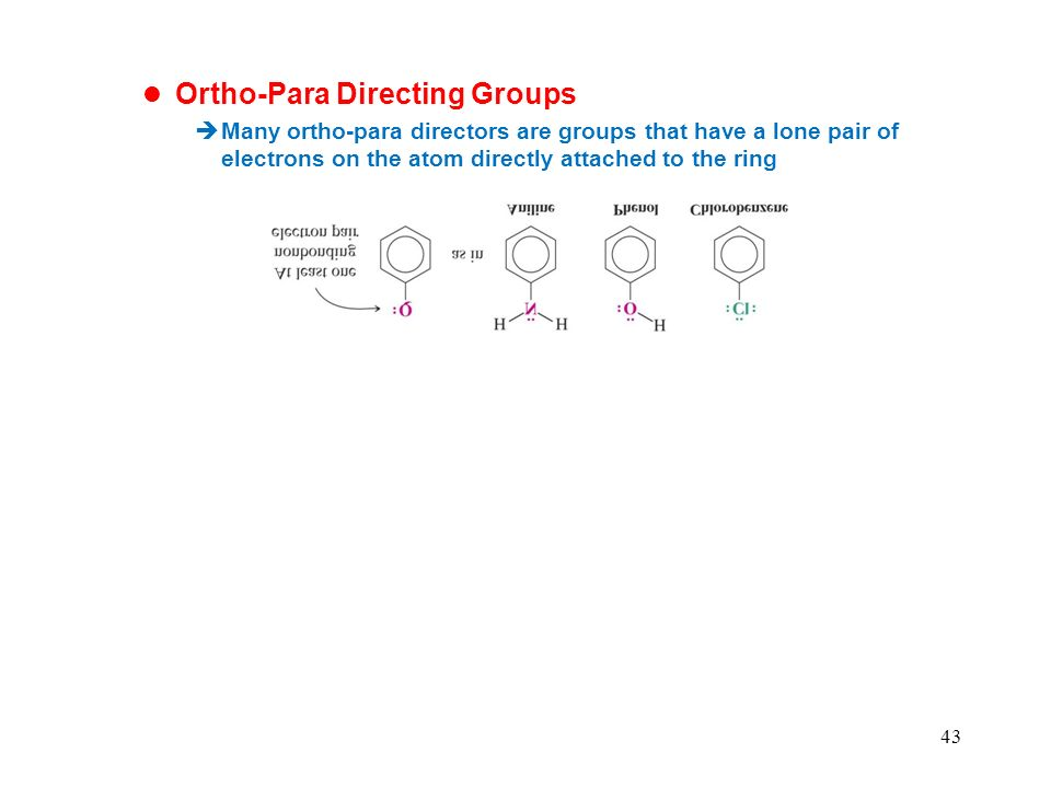 Ortho-Para Directing Groups