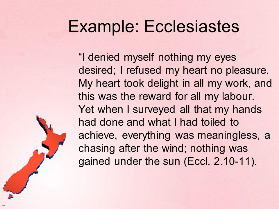 Example: Ecclesiastes