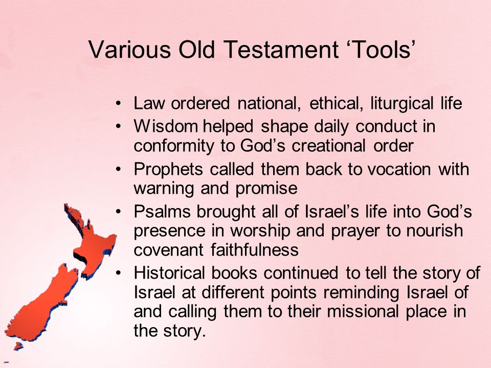 Various Old Testament 'Tools'