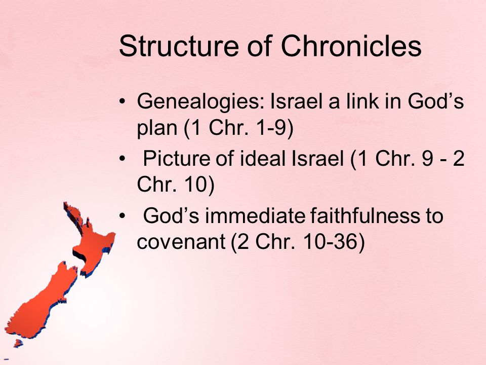 Structure of Chronicles