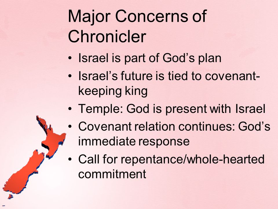 Major Concerns of Chronicler
