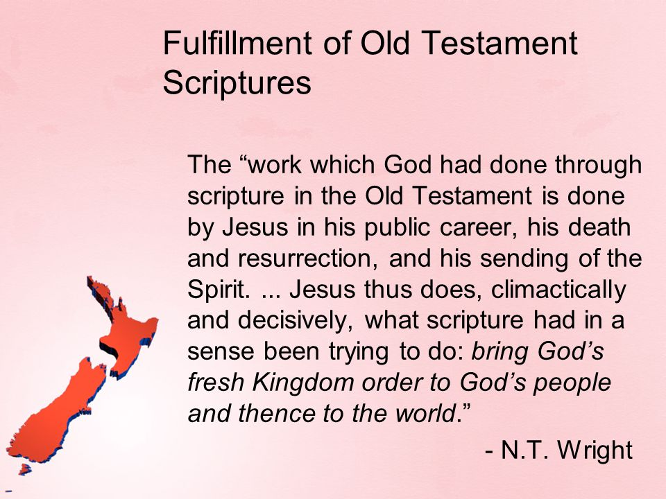 Fulfillment of Old Testament Scriptures