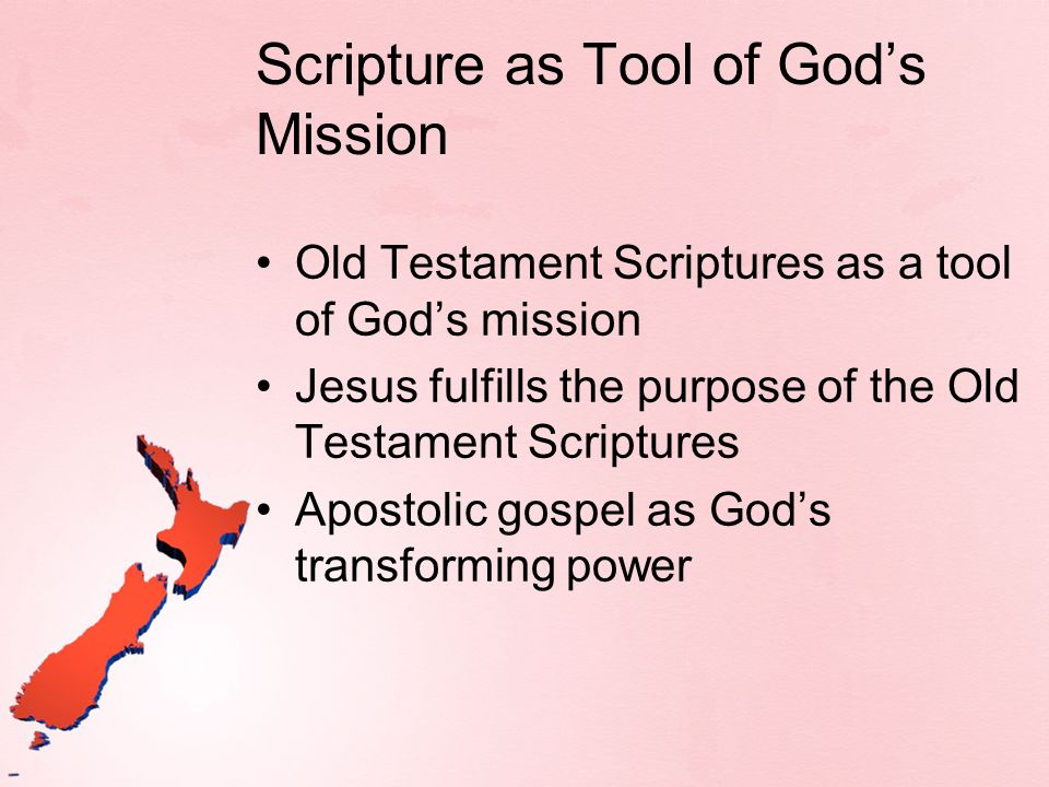 Scripture as Tool of God's Mission
