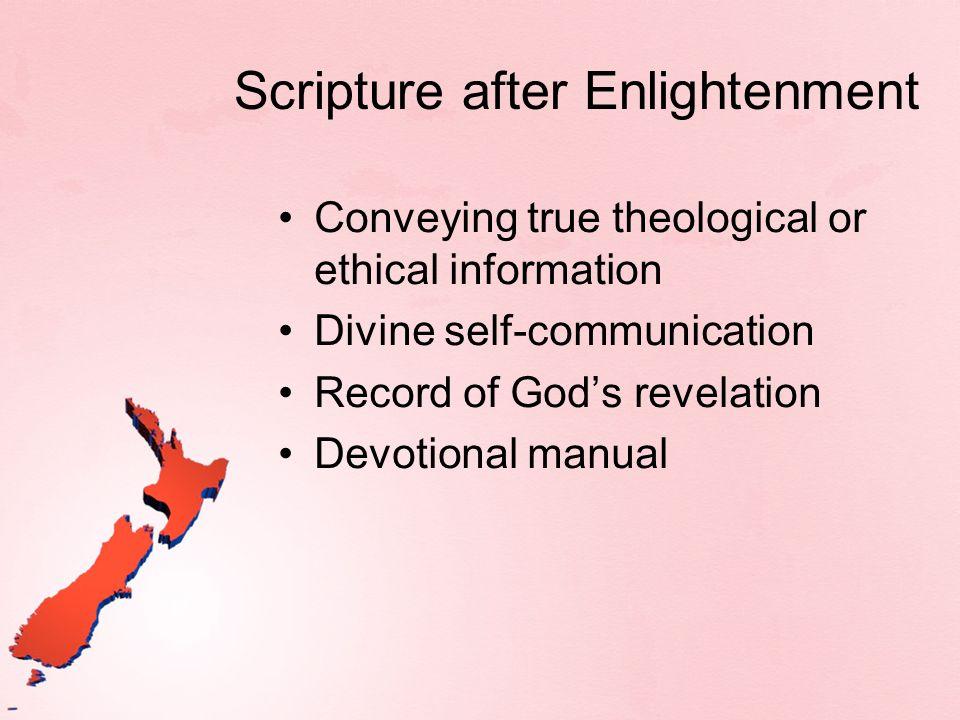 Scripture after Enlightenment
