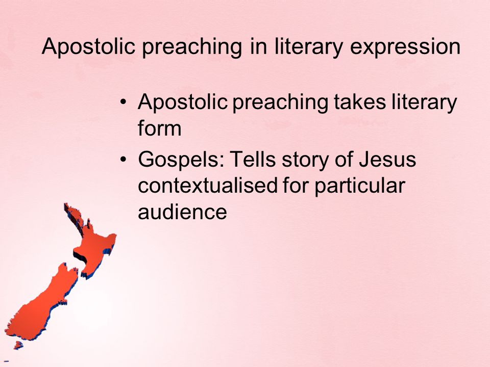 Apostolic preaching in literary expression
